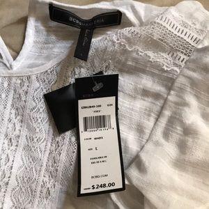 White BCBG summer dress brand new size large